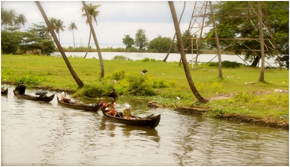 Alleppey River Bank