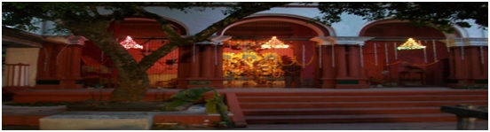 """Natmandir""- The place where Goddess Durga is kept and offered Puja"