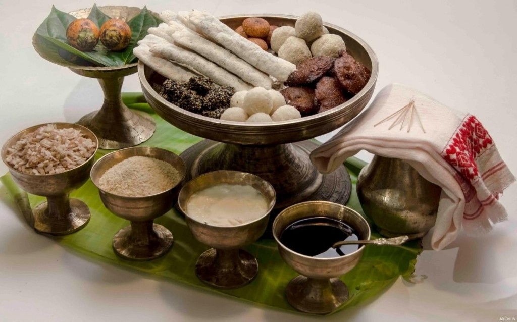 Assamese Pitha and other dishes