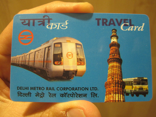 delhi metro travel card