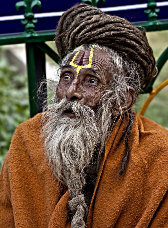 Holy man(sadhu) in Bodh Gaya, India
