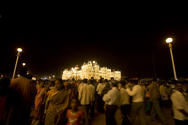 Mysore Palaca during Dasara