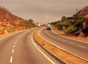 Parts of the 'Golden Quadrilateral' road to Bangalore