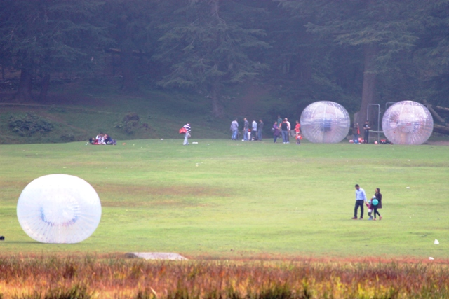 Zorbing is a popular adventure sports in Khajjiar. Photo - Amit Sengupta