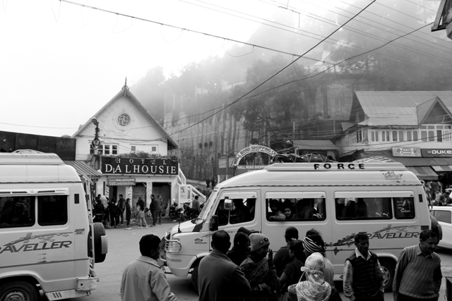 Tourists from Punjab and Delhi thronging Dalhousie, on a weekend is an usual sight. Photo - Amit Sengupta
