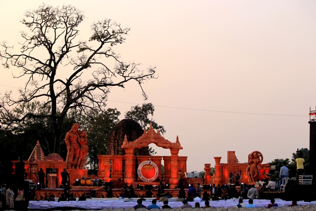 Musical Night: Stage for the three-day Sirpur Fest 2015 from 16-18 January in Sirpur, Chhattisgarh. Photo by Amit M Sengupta