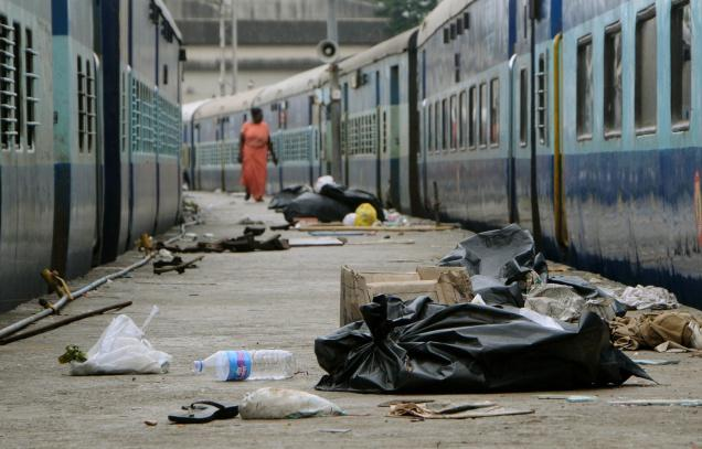 India railway station dirty