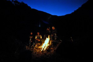 Campfire in Sikkim