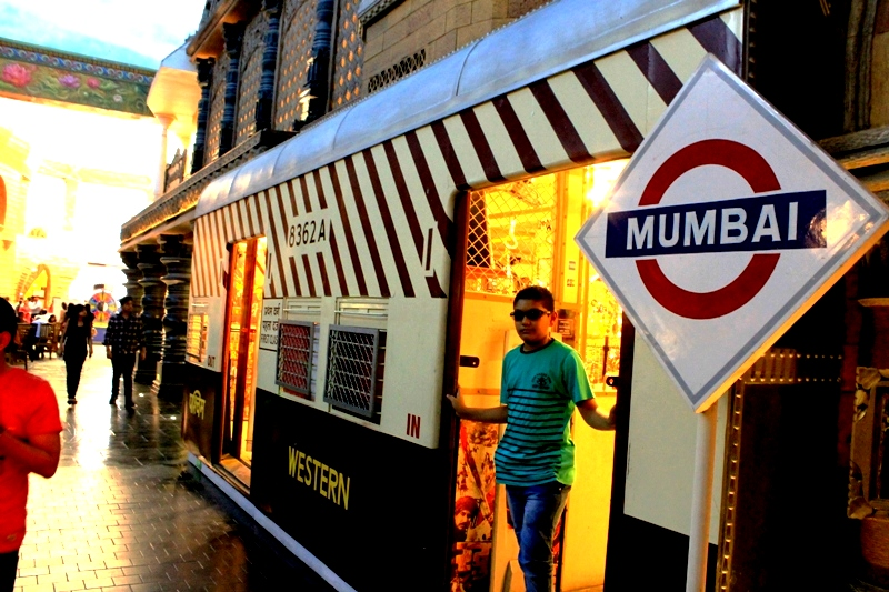 A replica of Mumbai's most remarkable icon - the local train - beautifully adorns the Maharashtra pavillion. Photo: Amit M Sengupta