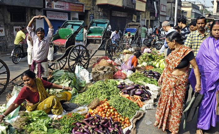 The lively Kolkata Market Source
