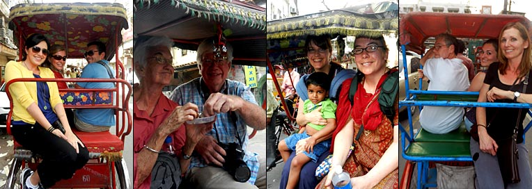 Rickshaw ride to Old Delhi Source