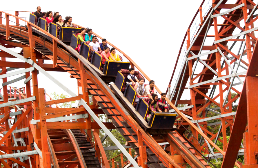Rumble and tumble down and up in the Cyclone!