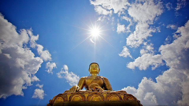 The giant buddha looking over Thimphu, Bhutan | Photo by Michael Foley