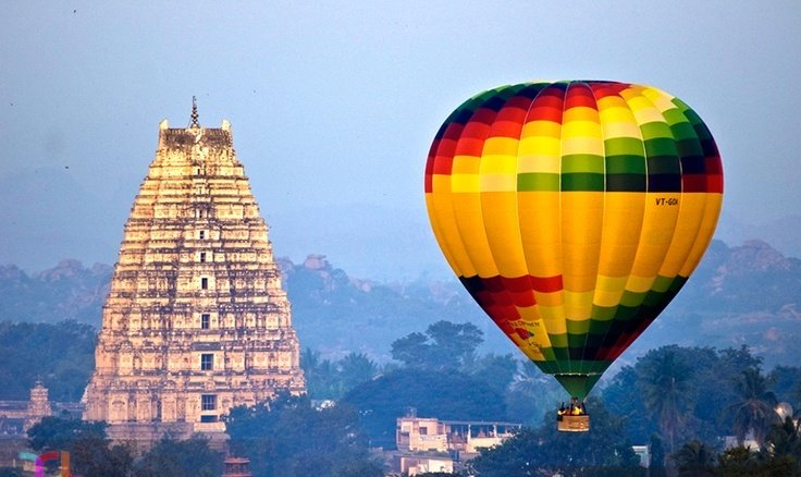 Hot-Air-Balloon ride-at-Hampi
