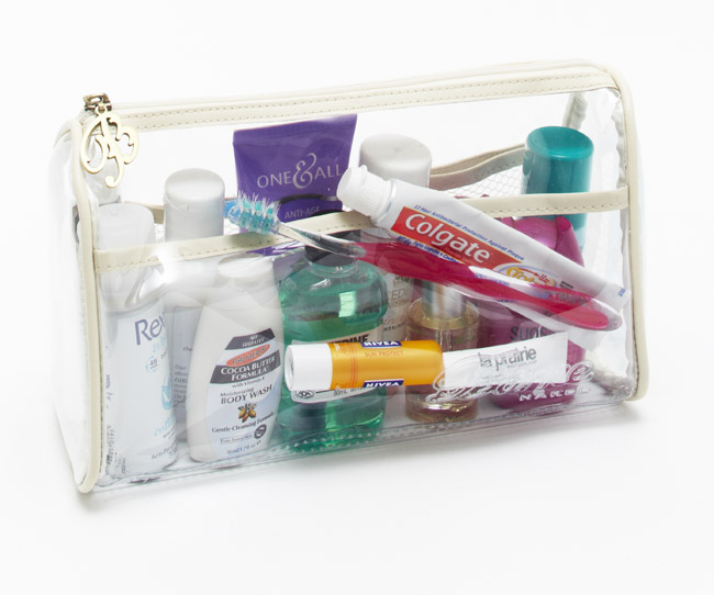 Toiletries while travelling