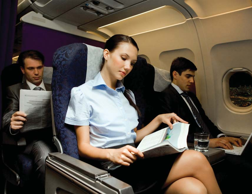 Reading while traveling; Image source: travelandleisureasia.com