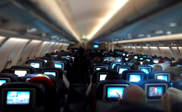 In-flight televions; Image source: intelligenttravel.nationalgeographic.com