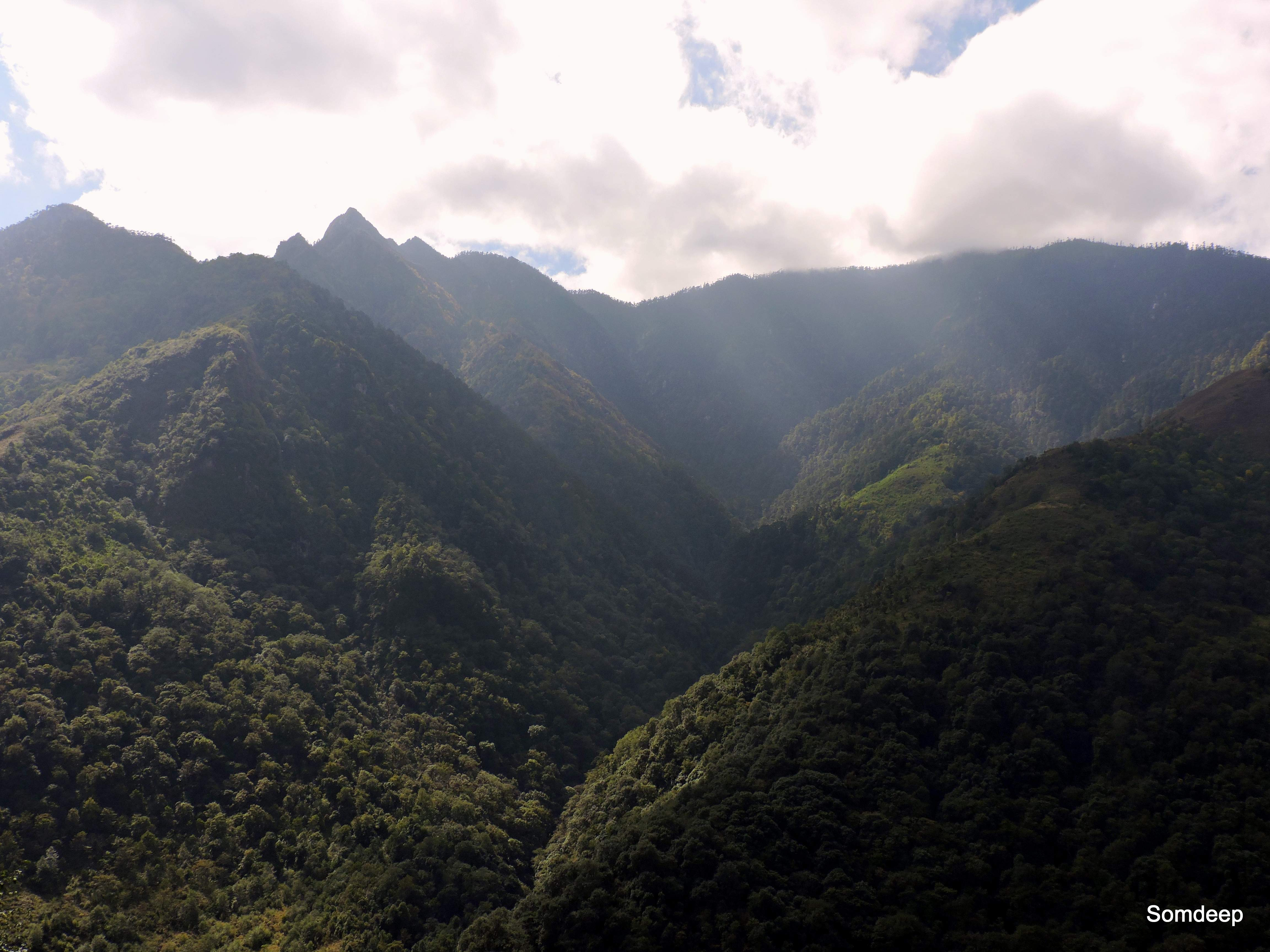 Sunlight escaping from the clouds, Arunachal Pradesh