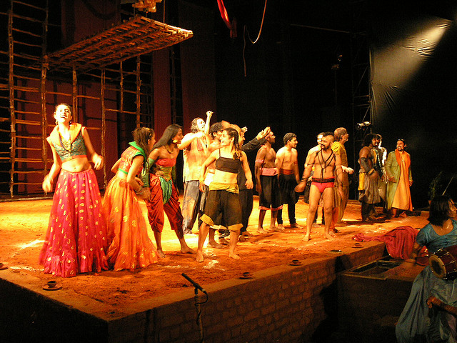 Midsummer night's dream being performed in a theatre in Chennai. Picture credits – Ronald Philip, Flickr