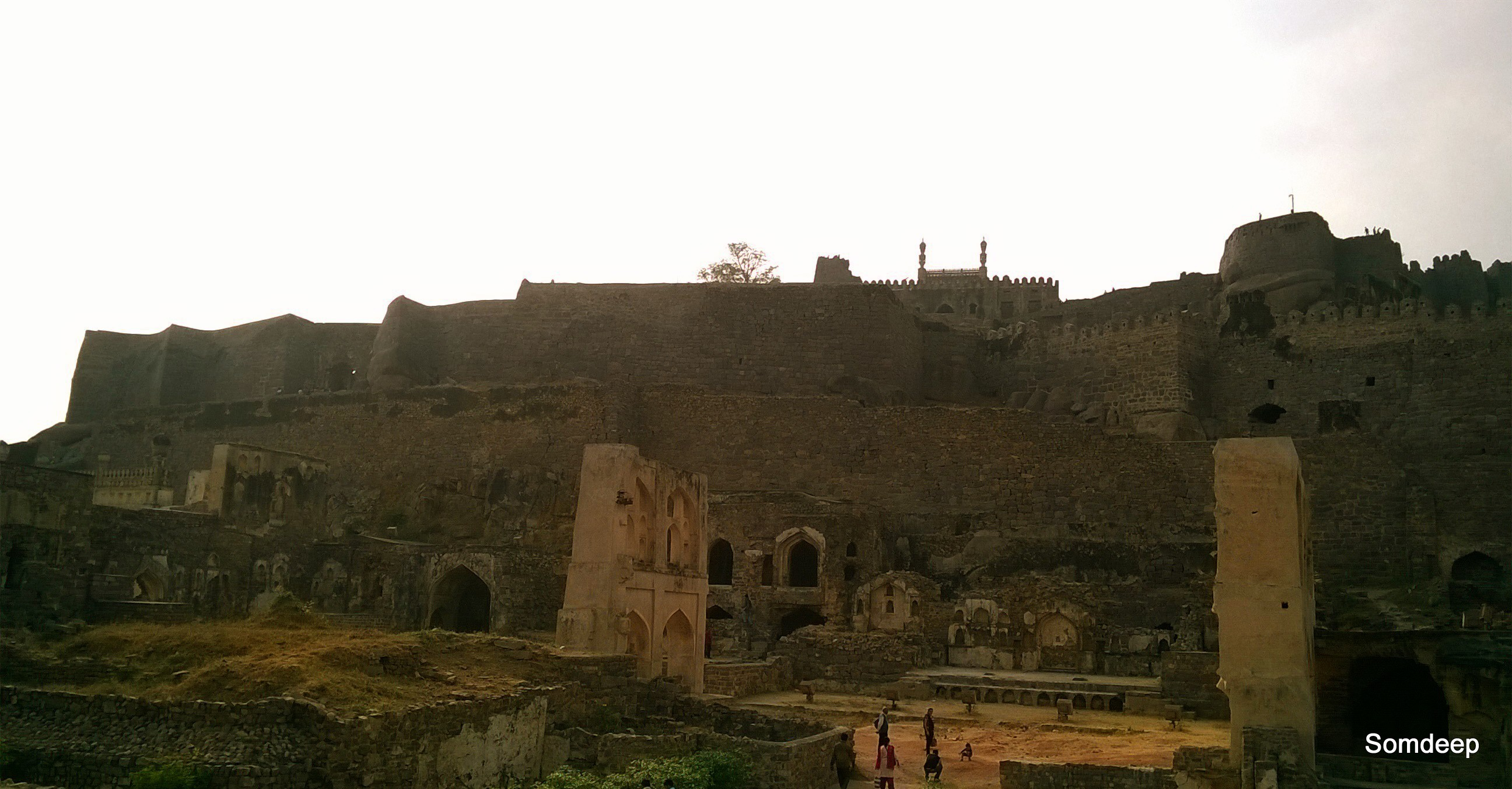 The facade of the Golconda fort