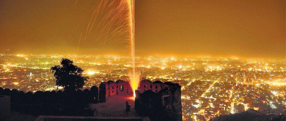 Image result for nahargarh at night